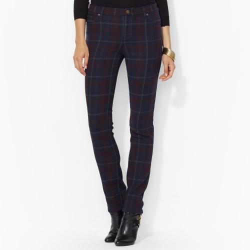 Lauren Ralph Lauren Ralph Plaid Modern Straight Pant