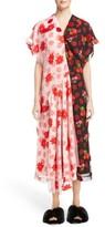 Simone Rocha Women's Bicolor Embroidered Cap Sleeve Dress