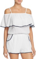 Becca by Rebecca Virtue Inspired Off the Shoulder Swim Cover-Up Romper