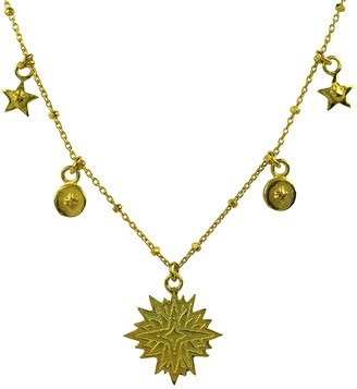 Annabelle Lucilla Jewellery Sacred Star & Coin Bobble Chain Necklace