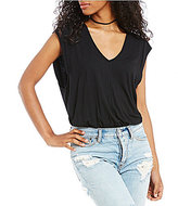 Free People Tees For My Jeans Knit Bodysuit