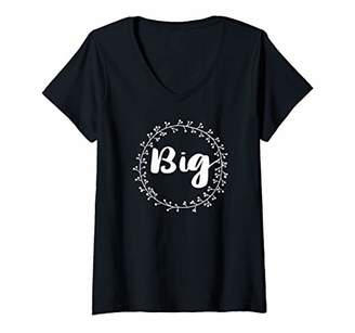 Womens Matching Big Little Greek Family Sorority Reveal College V-Neck T-Shirt