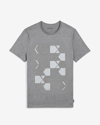 Express Gray Floating Logo Graphic T-Shirt