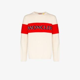 MONCLER GENIUS Front logo stripe sweater