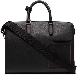Ermenegildo Zegna Grained-Leather Holdall Bag