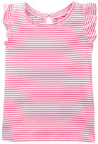 Joe Fresh Striped Flutter Tee (Toddler & Little Girls)