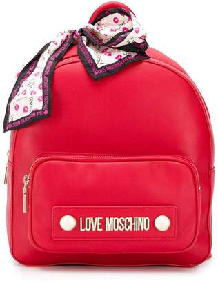Love Moschino small logo backpack