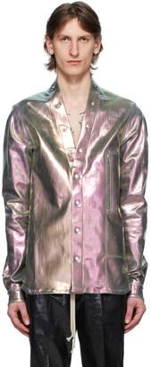 Rick Owens Silver Iridescent Larry Shirt
