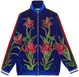 Gucci Oversize embroidered chenille jacket