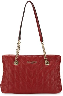 Karl Lagerfeld Paris Karolina Quilted Leather Chain Shoulder Bag