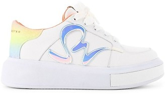 Sophia Webster Swalk Iridescent Leather Platform Sneakers