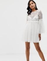 Asos Design DESIGN smock dress with embellished yoke