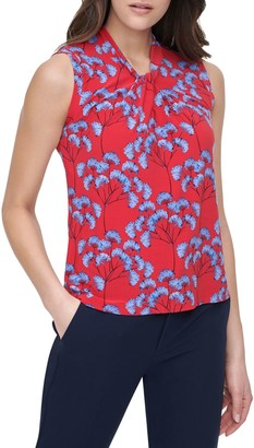 Tommy Hilfiger Floral Knot Sleeveless Top