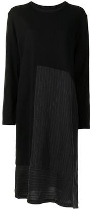 Y's Panelled Asymmetric Hem Dress