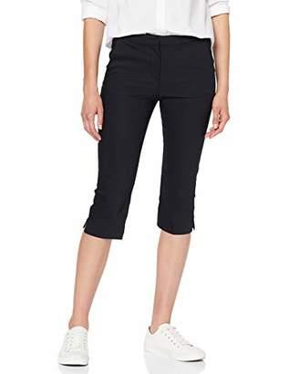 Saint Tropez Women's Capri Pants W Elastic Waist Trouser,(Size: Medium)