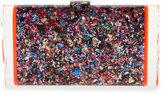 Edie Parker Lara Confetti Acrylic Backlit Clutch Bag, Multi