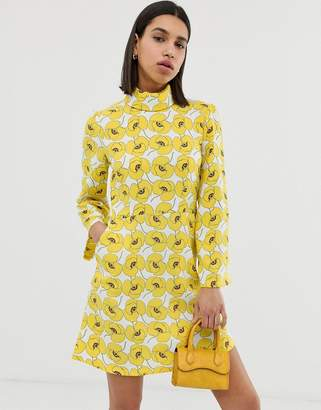 Résumé Resume Mynte high neck printed mini dress-Yellow