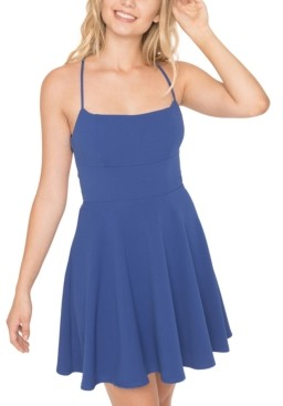 B. Darlin Juniors' Crisscross-Back A-Line Dress