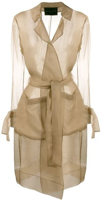 Fabiana Filippi Sheer Silk Trench Coat