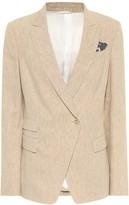 Brunello Cucinelli Stretch-linen blazer