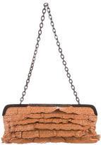 Valentino Laser Cut Leather Shoulder Bag