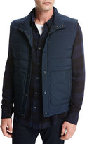 Vince Quilted Tech Utility Vest, Navy