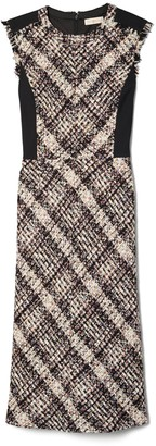 Tory Burch Tweed Sleeveless Pencil Dress