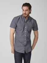 Frank + Oak The Jasper Oxford Marl-Cotton Shirt in Peacoat