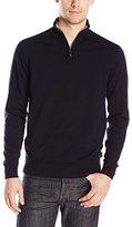 Ben Sherman Men's 1/4 Zip Cotton Sweater
