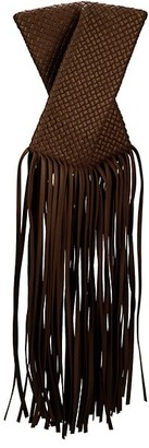 Bottega Veneta Crisscross Fringe Leather Clutch