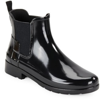 Hunter Refined Gloss Rubber Ankle Rain Boots