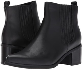 Blondo Elvina Waterproof Bootie (Black Leather) Women's Boots