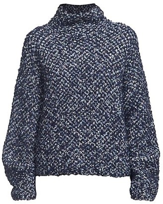 3.1 Phillip Lim Boucle Jacquard Wool-Blend Turtleneck Sweater
