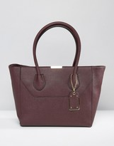 Aldo Unlined Tote Bag With Luggage Tag
