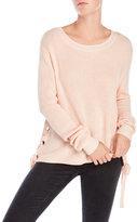 Mono B Lace-Up Sides Sweater