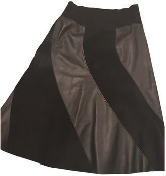 Louis Vuitton Black Leather Skirts