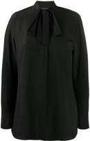 Etro tie-neck crepe blouse