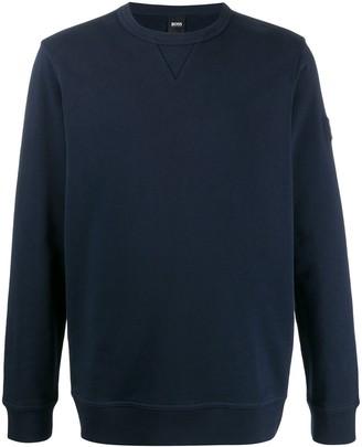 HUGO BOSS relaxed-fit crew neck sweatshirt