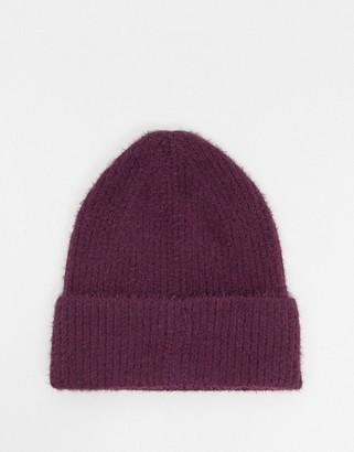 Boardmans zola sponge knit hat in burgundy