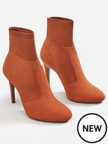 MANGO Lola Sock Ankle Boot