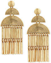 Lucky Brand Gold-Tone Fan & Bar Chandelier Earrings