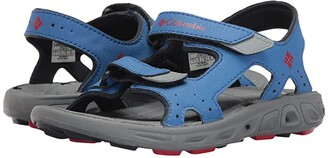 Columbia Kids Techsuntm Vent (Toddler/Little Kid/Big Kid) (Stormy Blue/Mountain Red) Boy's Shoes