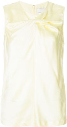 3.1 Phillip Lim Sleeveless satin twist front top
