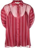 Diane von Furstenberg Beatriz crinkle short-sleeve shirt
