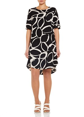 M&Co VIZ-A-VIZ linen blend dress