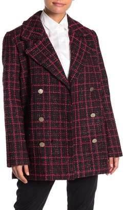 Bagatelle Plaid Notch Collar Jacket