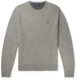 Polo Ralph Lauren Logo-Embroidered Melange Wool Sweater