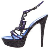 Rene Caovilla Jewel-Embellished Platform Sandals