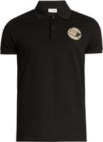 Saint Laurent Never Say Never cotton polo shirt