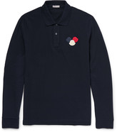 Moncler - Appliquéd Cotton-piqué Polo Shirt